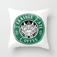 majora Throw Pillows featuring Cafe Majora by ShinoX