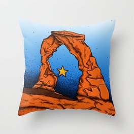 Delicate Arch (Color) Throw Pillow