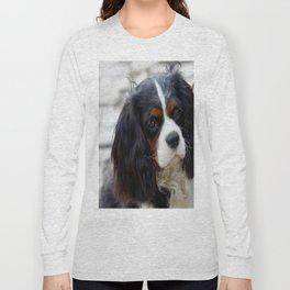 King Charles Cavalier Portrait Long Sleeve T-shirt