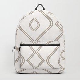 Modern Boho Ogee in Cream Backpack