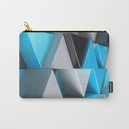 Pattern of black, white and blue triangle prisms Carry-All Pouch