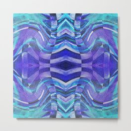 127 - Purple and blue glass design Metal Print