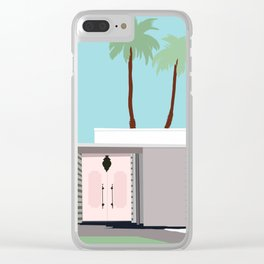 Palm Springs 1 Clear iPhone Case