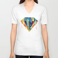 diamond V-neck T-shirts featuring Diamond by By Nordic