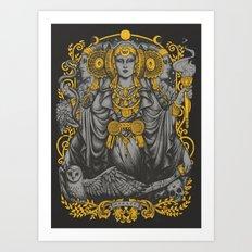 IBERIAN HECATE gray Art Print