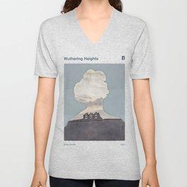 Emily Brontë Wuthering Heights - Minimalist literary design Unisex V-Neck