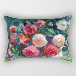 Fruits & Rose Flowers Rectangular Pillow