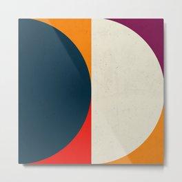 Geometric abstract / half circles Metal Print