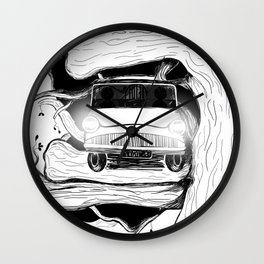 Harry, Ron and their first car ride Wall Clock