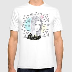 you are my geometric desire... MEDIUM Mens Fitted Tee White