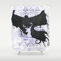 potter Shower Curtains featuring Harry Potter by Carmen McCormick