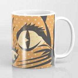 Spooky Vintage Halloween Feline Cat Face Coffee Mug