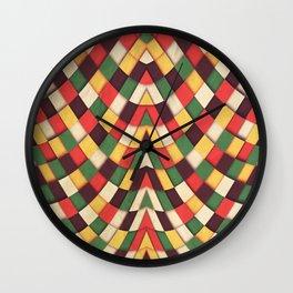 Rastafarian Tile Wall Clock