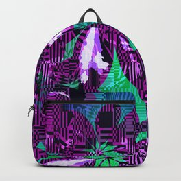 Hand drawn colorful flower Backpack