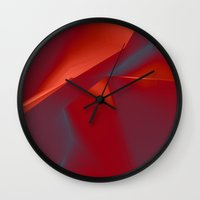 agate Wall Clocks featuring Agate by Daniac Design