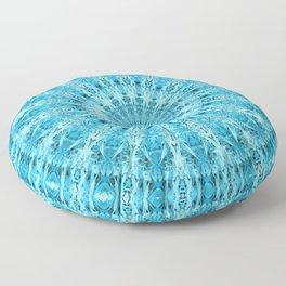 Mary Jane Mandala (blue) Floor Pillow