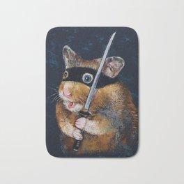 Ninja Hamster Bath Mat