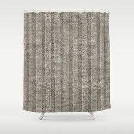 Soft Brown Jersey Knit Pattern Shower Curtain