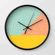 80's Abstract 1 Wall Clock