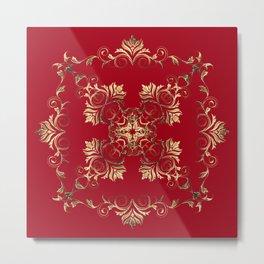 Baroque style golden texture/background Metal Print