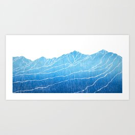 Colorado Mountain Ranges_Breckenridge Tenmile Range Art Print