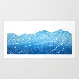 Colorado Mountain Ranges_Breckenridge Tenmile Range Art Print