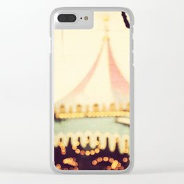 Carousel Goes Round and Round Clear iPhone Case