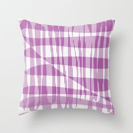 Purple/Violet Pattern Throw Pillow