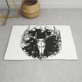 """""""Ghost Hunt"""" Deer Hunting Art Rug"""