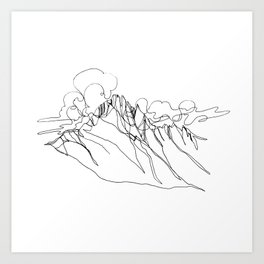 Alpha - Single Line Art Print