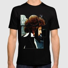 Bob Dylan Font Colour 2X-LARGE Mens Fitted Tee Black