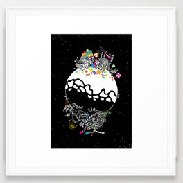 Good Santa / Evil Santa Framed Art Print