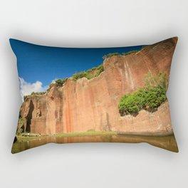 Tall red rock Rectangular Pillow