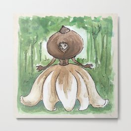 Empire of Mushrooms: Geastrum minimum Metal Print