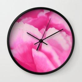 Pink Rose Petals Wall Clock