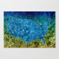 usa Canvas Prints featuring USA  by Bekim ART