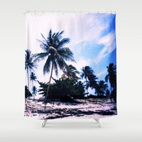 cuba Shower Curtains featuring Cuba by very giorgious