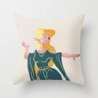 elf Throw Pillows featuring Elf by lueurlunaire (Chloe Losch)