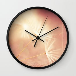 My Wish for You. dandelion seeds photograph Wall Clock