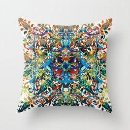 Bold Pattern Art - Color Fusion Design 8 By Sharon Cummings Throw Pillow