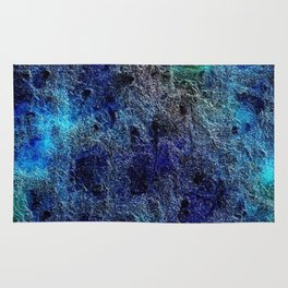 Colorful Cool Rich Jewel Tones Blue Abstract Rug