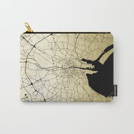 Dublin Ireland Green on White Street Map Carry-All Pouch