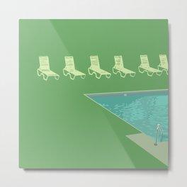Poolside (green) Metal Print