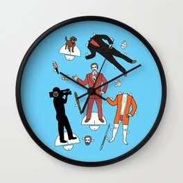 Cut It Out: Ron Burgundy Wall Clock