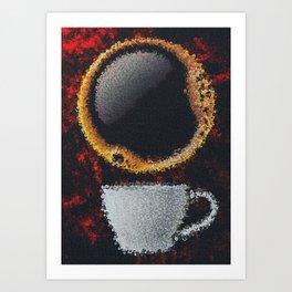 Americano Coffee Tile Art Art Print