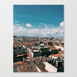 Madrid Rooftops Canvas Print