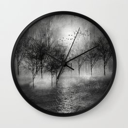 Black and White - Paisaje y color II Wall Clock