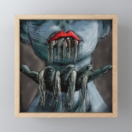 Not Romance, Not An Attack, Maybe A Gift Framed Mini Art Print