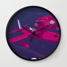 Porco Rosso Alternative Movie Poster Wall Clock