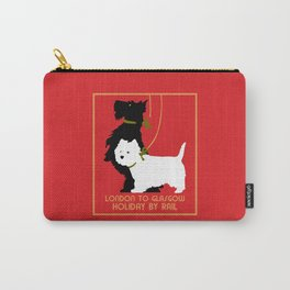 Retro London and Glasgow by train, dogs terriers Carry-All Pouch